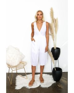 Lilly Anne Jumpsuit - White